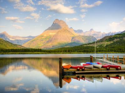 Swiftcurrent Lake, Many Glacier, Glacier National Park, Montana, USA
