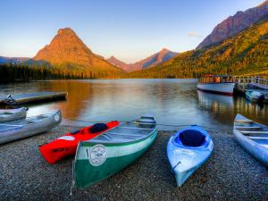 Two Medicine Lake and Sinopah Mountain, Glacier National Park, Montana, USA by Jamie & Judy Wild