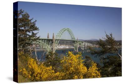 Yaquina Bay Bridge on Highway 101, Newport, Oregon, USA