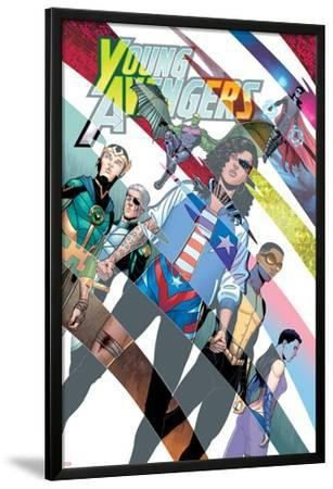 Young Avengers #8 Cover: Hawkeye, Hulkling, Loki, Marvel Boy, Miss America, Prodigy, Wiccan