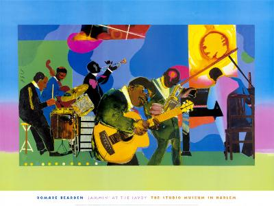 Jammin' at the Savoy-Romare Bearden-Art Print