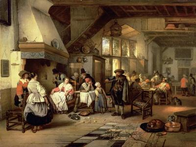 Interior of a Tavern with a Blind Fiddler, 1844
