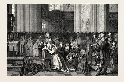 Salon of 1855. Belgian School. the Trentaines De Bertal De Haze,