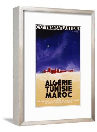 Algerie - Tunisie - Maroc Travel Poster