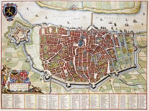Antverpia, Map of Antwerp by Jan Blaeu