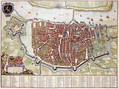 Antverpia, Map of Antwerp