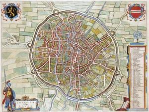 Lovanium, Map of Louvain by Jan Blaeu