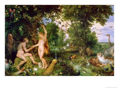 Adam and Eve in Paradise, circa 1610-15