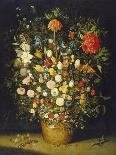 Earth or the Earthly Paradise, Detail of Adam and Eve with God and Other Animals, 1607-08-Jan Brueghel the Elder-Giclee Print