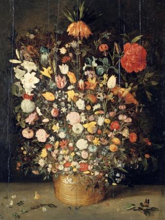 Bouquet of Flowers in a Wooden Vase, 1603 by Jan Brueghel the Elder