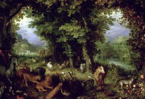Earth or the Earthly Paradise, 1607-08 by Jan Brueghel the Elder