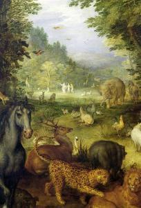 Earth, or the Earthly Paradise, Detail of Animals, 1607-08 by Jan Brueghel the Elder