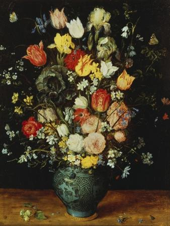 Flowers in a Blue Vase, about 1608 by Jan Brueghel the Elder