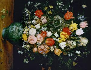 Flowers in a Blue Vase by Jan Brueghel the Elder