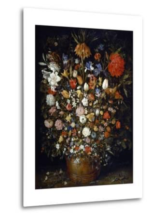 Flowers in a Wooden Vessel