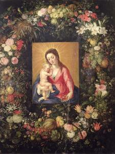 Garland of Fruit and Flowers with Virgin and Child by Jan Brueghel the Elder