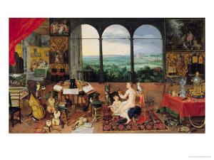 Hearing, 1617 by Jan Brueghel the Elder