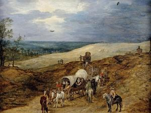 Landscape with Wagons, 1603 by Jan Brueghel the Elder