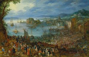 Large Fishmarket, 1603 by Jan Brueghel the Elder