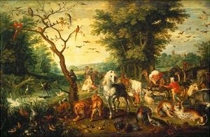 Noah Guiding the Animals onto the Ark by Jan Brueghel the Elder