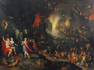Orpheus Playing to Pluto and Persephone in the Underworld by Jan Brueghel the Elder