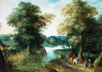 River Landscape by Jan Brueghel the Elder