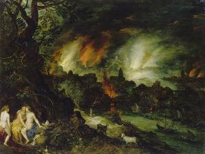 Sodom and Gomorrha (Lot and His Daughters) by Jan Brueghel the Elder