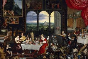 Taste, Hearing and Touch, Ca. 1620 by Jan Brueghel the Elder