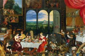 The Five Senses: Taste, Hearing and Touch by Jan Brueghel the Elder