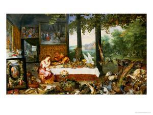 The Sense of Taste, 1618 by Jan Brueghel the Elder