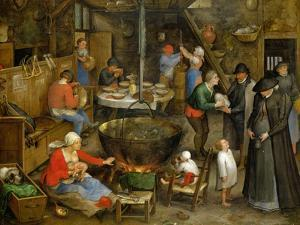The Visit at the Leasehold Farm, circa 1597 by Jan Brueghel the Elder