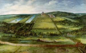 View of the Chateau De Mariemont, Belgium by Jan Brueghel the Elder