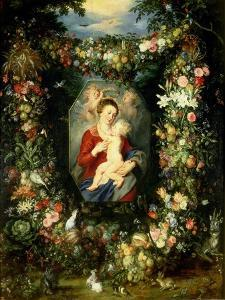 Virgin and Child with Fruits and Flowers by Jan Brueghel the Elder