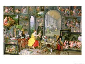 Allegory of Painting by Jan Brueghel the Younger