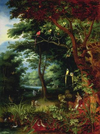 Paradise Scene with Adam and Eve