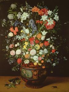 Still Life of Flowers in a Vase by Jan Brueghel the Younger
