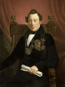 Portrait of Coenraad Van Hulst by Jan Cornelis van Rossum