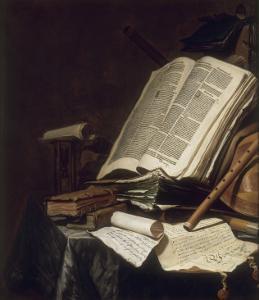 Livres et instrument de musique by Jan Cornelisz Vermeulen