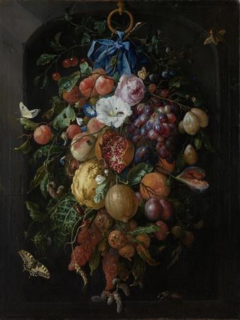 Festoon of Fruit and Flowers - Still Life