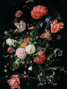 Flowers in a Glass Vase, C.1660 by Jan Davidsz de Heem