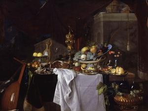 Fruits and Rich Dishes on a Table, 1640 by Jan Davidsz^ de Heem