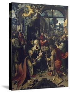 Birth of Jesus, Central Panel of Triptych by Jan de Beer