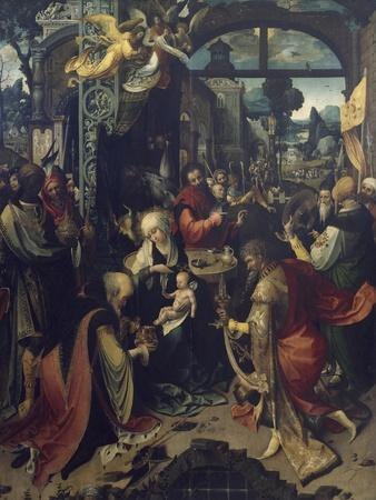 Birth of Jesus, Central Panel of Triptych