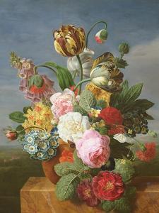 Bouquet of Flowers in a Vase by Jan Frans van Dael