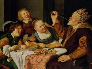 A Feast by Jan Gerritsz. van Bronckhorst