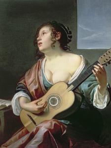 Woman with a Lute by Jan Gerritsz. van Bronckhorst