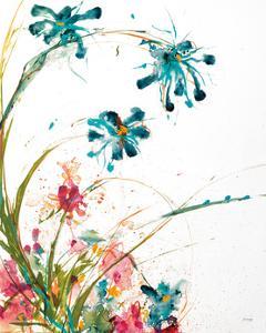 Blooming Blue Crop on White by Jan Griggs