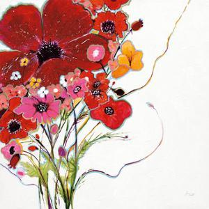 Crazy Daisy on White by Jan Griggs