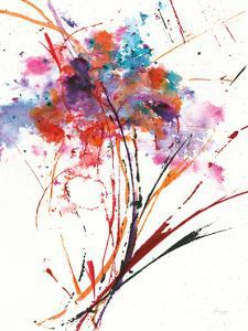 Floral Explosion I on White by Jan Griggs