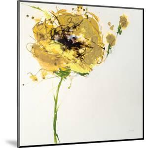 Yellow Poppy Master on White by Jan Griggs